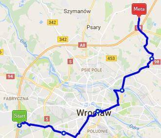 Trasa rowerowa Euro Velo 9 przez Wrocław